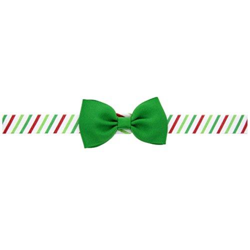 [Malltop Baby Girl Christmas Hairband, Bowknot Stripe Elastic Headdress Ornaments] (Ladies Golf Fancy Dress Costumes)