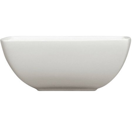 Set of 6 Coupe Square Bowls 6.25'' x 2.5'', White