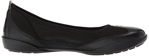 ECCO Bluma Summer Womens Black Footwear black Ballerina Flat Shoes awqa6RrU