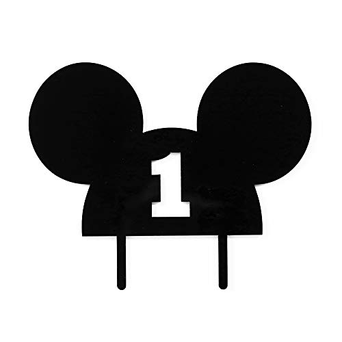 Mickey Mouse Ears 1st year CAKE TOPPER by Acrylic Art Design