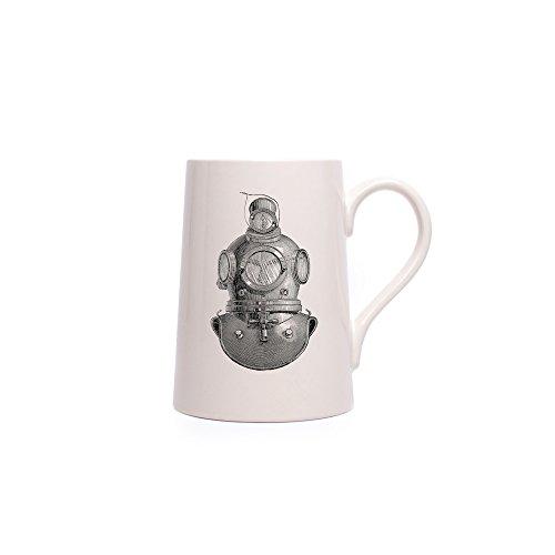 Izola Extra Large Ceramic 24 oz Viking Tankard Specialty Beer Mug - Diver ()