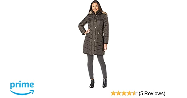 0afca5a04 MICHAEL Michael Kors Womens Snap Front Hooded Down M823172GZ at ...