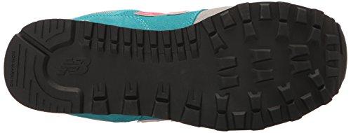 New Balance 574, Zapatillas infantil Multicolor (Grey/turquoise)