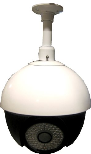 - Vonnic C727W 1/4-Inch Sony CCD 480/600 TV Lines 27x Zoom 92 IR LED PTZ 355 Deg Rotation IP66 Dome Security Camera (White)