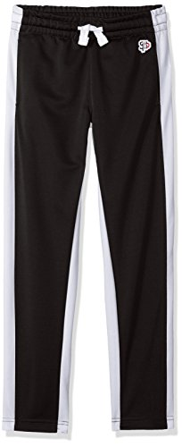 - Southpole Boys' Big' Athletic Track Pants Open Bottom, Black, Medium