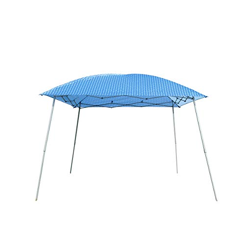Pavilion Stripe - Goodgojo 10'x 10' EZ Pop-up Canopy Tent Instant Gazebo Outdoor Tent with Carry Bag for Party Wedding Camping (10'x 10', Blue Stripe)