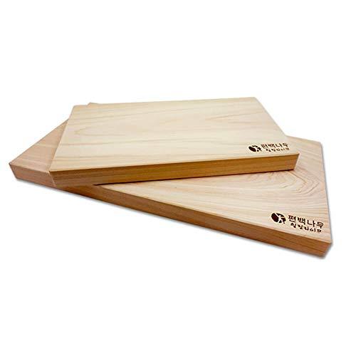 Healing Life Hinoki Cypress Wooden Cutting Board, No Knots, Set of 2 ()