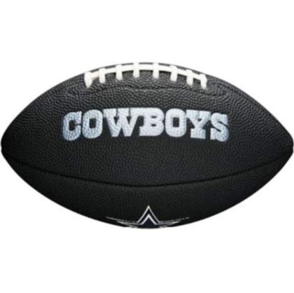 NFL Team Logo Mini Football, Black - Dallas Cowboys