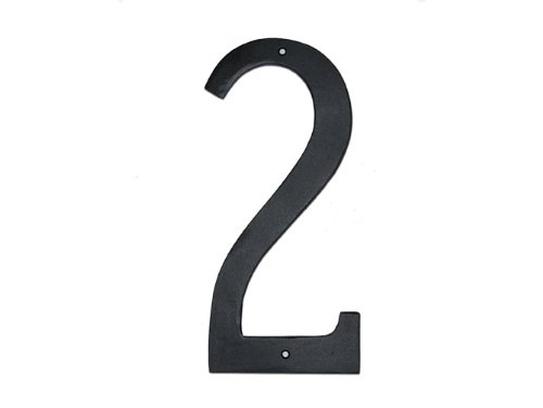 (Montague Metal Products Standard Font Individual House Number, 2,)