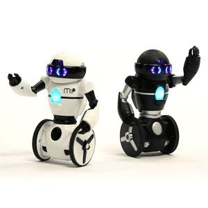 MiP Balancing Robots Case Pack: One White with Black Trim & One Black with Silver Trim