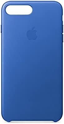 huge discount c5ab2 2ef76 Apple Leather Case (for iPhone 8 Plus/iPhone 7 Plus) - Electric Blue