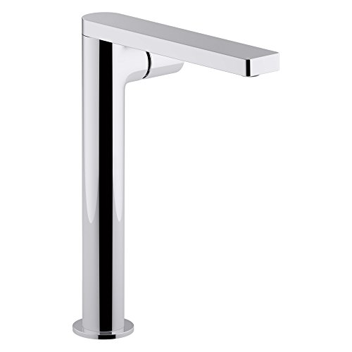 Kohler K-73054-7-CP Composed Tower Single Bathroom Sink Faucet with Cylindrical Handle, Polished Chrome, L 19.75