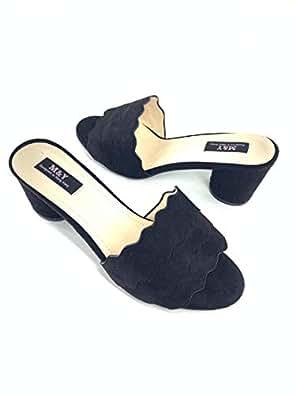 M&Y Black Heel Sandal For Women