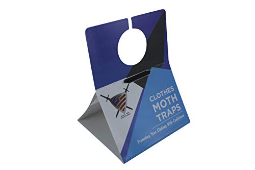 Clothes Moth Traps for Closet Clothing - Moths Protection with Unique Hanging Design, Protect with Non Toxic Formula That is Safe for Your Family and Long Lasting, Protect and Defend. (6 Pack) (Clothing Moths)