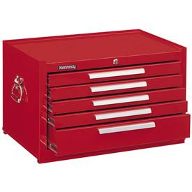 Kennedy Manufacturing 285R 5-Drawer Mechanic's Chest with Friction Slides, 27'', Red by Kennedy Manufacturing