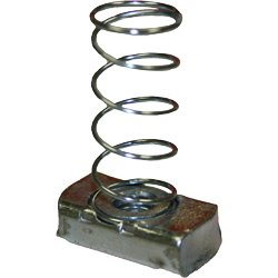 3//8 Plated Strut Nut With Spring