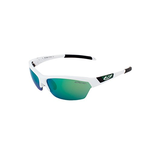 Smith Optics Approach Sunglasses, White Frame, Green Mirror/Ignitor/Clear - Smith Running Sunglasses