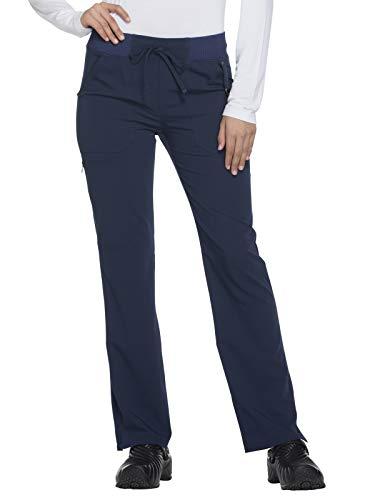 Leg Wide Dickies (Dickies Xtreme Stretch Women's Drawstring Straight Leg Scrub Pant Medium Tall Navy)