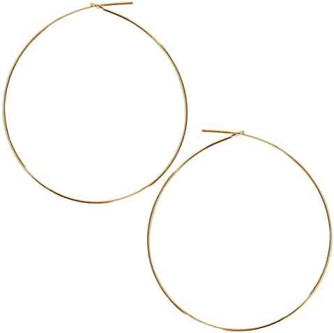 2bf767800 Humble Chic Round Hoop Earrings - Hypoallergenic Lightweight Wire Threader  Loop Drop Dangles for Women,