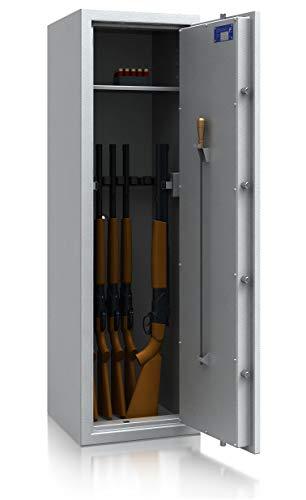 SafeHero-Waffenschrank-Klasse-0N-EN-1143-1-Secureo-Hawk-9-XL-Schlsselschloss-fr-9-Langwaffen-und-Kurzwaffen-inkl-Munition-1500x450x450-165-kg