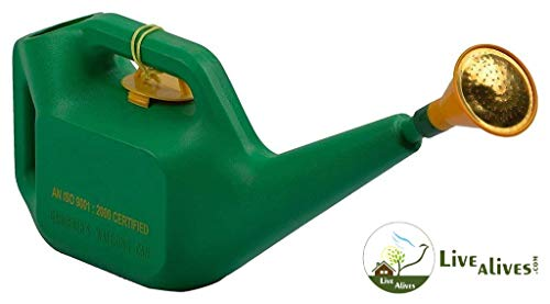 Live with alive Plastic Watering Can (5-Liter) for Plants (with Copper sparyer) and Free!!! Mixed Vegetables Seeds.