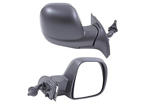 Right Driver Side Mirror (Manual) for Citroen BERLINGO Van 2012-2018