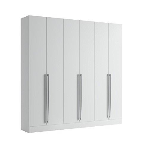 Manhattan Comfort Eldrige Collection 6 Door Freestanding Wardrobe Closet for Bedroom Use, 90