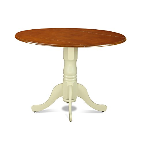 East West Furniture DLT-BMK-TP Dublin Round Table with Two 9
