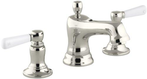 (KOHLER K-10577-4P-SN Bancroft Widespread Lavatory Faucet, Vibrant Polished Nickel)