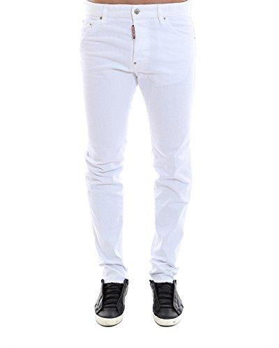 DSQUARED2 Men's S74lb0315s39781100 White Cotton Pants (Dsquared2 Men Pants)