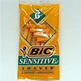BIC Single Blade Sensitive Disposable Shaver,6 ea