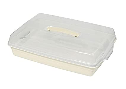 CURVER – Caja para Tartas Caja de Transporte para Tarta de Transporte Caja de plástico con