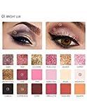 Eyeshadow Pallets, 18 Pigmented Eyeshadow Palette, Focallure Matte Glitter Shimmer Gold Colorful Makeup Eye Shadow
