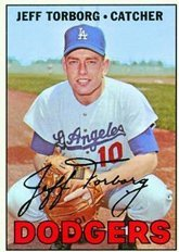 1967 Topps Regular (Baseball) Card# 398 Jeff Torborg of the Los Angeles Dodgers Ex Condition ()