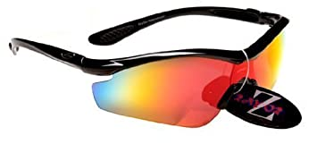 ef32d10126a Image Unavailable. Image not available for. Colour  Rayzor Professional Lightweight  UV400 Black Sports Wrap Cycling Sunglasses
