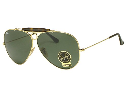 Ray Ban RB3138 shooter 181 Gold Sunglasses - Ray Ban Rb3138