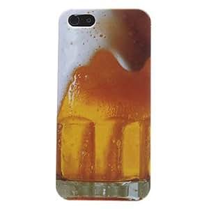 TY- Caso duro del patrón de la burbuja cerveza para el iphone 5/5s