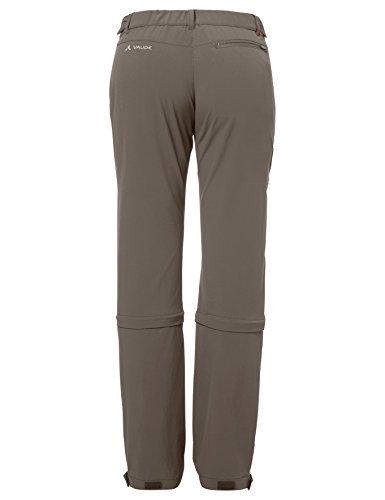 VAUDE Women 's Farley Stretch Capri–Pantalón de T Zip II marrón grisáceo