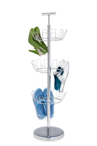 Honey-Can-Do SHO-01482 3-Tier Chrome Shoe Tree,