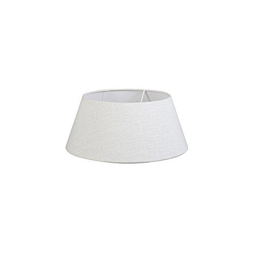 Rund konisch Schirm Stehleuchte QAZQA Modern Leinen Leinen Lampenschirm wei/ß 35//30//18