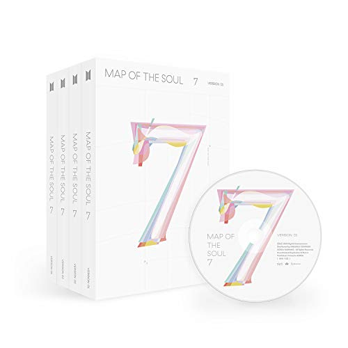 BTS MAP OF THE SOUL : 7 - [ver.1] CD,Photobook, Folded Poster, Others with Extra Decorative Sticker Set, Photocard Set
