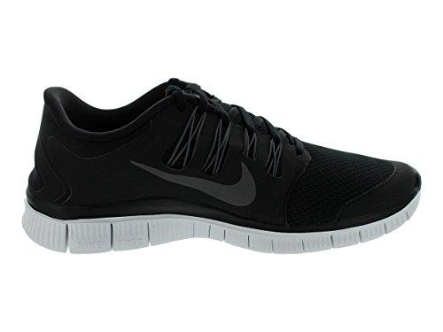 Nike Mænd Gratis 5.0+ Indånder Kører Sort / Metallic Mørkegrå / Hvid Syntetisk Sko - 7 D (m) Os IYCxv1WiS