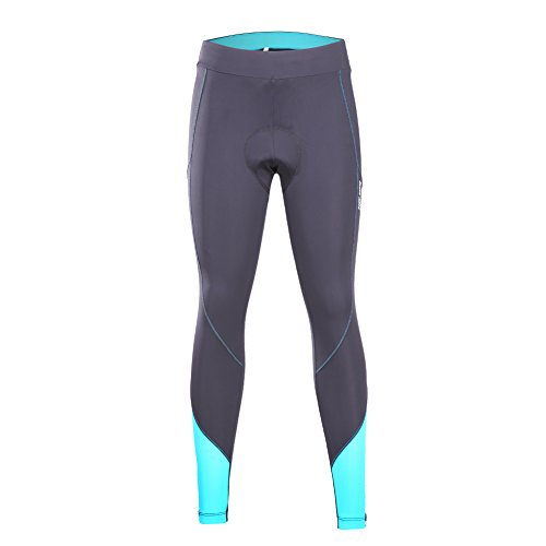 beroy Women 3D Padded Cycling Pants with Adjust Drawstring,Ladies Compression Tights Bike Pants(S Blue) by beroy (Image #1)