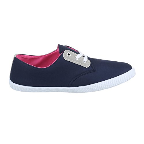 Ital-Design - zapatos de tiempo libre Mujer Azul - azul