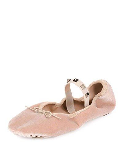 Valentino Garavani Rockstud Velvet Ballerina Flat Shoes for sale  Delivered anywhere in USA