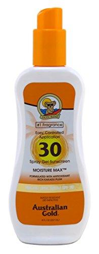 Australian Gold Spf 30 Spray Gel Moisture Max 8 Ounce 235ml 3 Pack