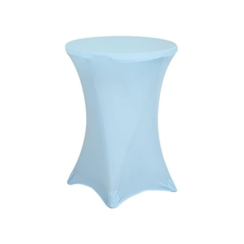 Urby Highboy Cocktail Round Table 36 By 42 Inch Spandex Fitted Stretchable Elastic Tablecloth Table Cover 36'' Diameter x 42'' Height Light (36' Cocktail Table)