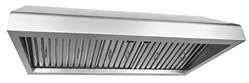 Cycene 36 Inch Professional Series Under Cabinet Stainless Steel Range Hood w/ Baffle Filter @ 900CFM - CY-RH61PS-36 - Professional Range Hood Blower