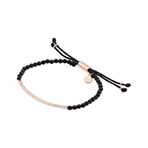 gorjana Women's Power Gemstone Bracelet for Protection, Rose Gold/Black Onyx, One Size