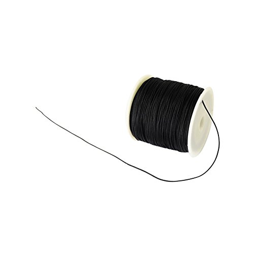 arricraft 1 Roll Braided Nylon Cord 0.5mm Imitation Silk String Beading Thread Craft Cord DIY Jewelry Making, About 150Yard(137M)/roll